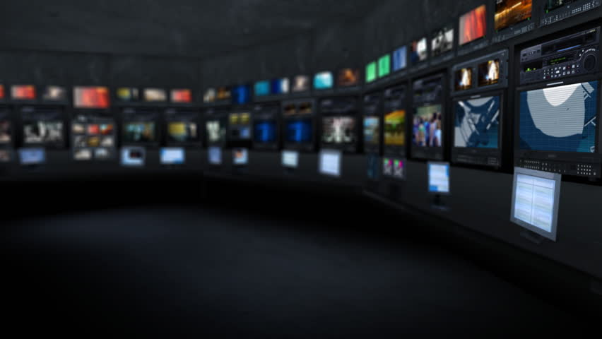 Newsroom. Background for virtual studio. - HD stock footage clip