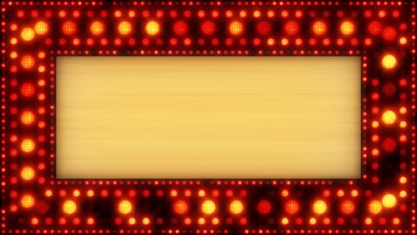 Broadway Lights Border Clipart Movie Marquee T...