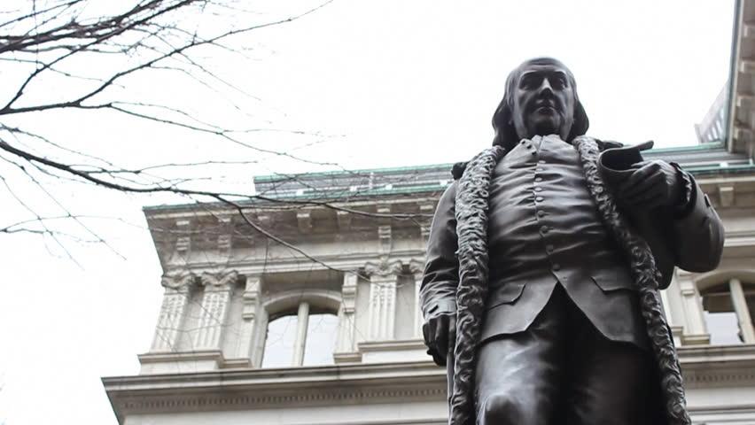 Statue of Benjamin Franklin in Boston