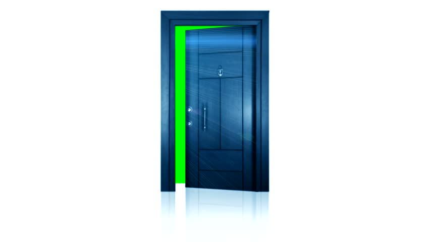 opening door green back