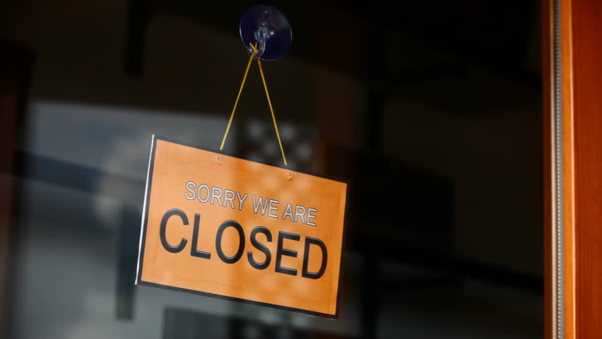 Open And Closed Signs English Stock Footage Video