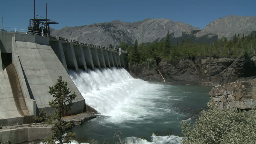 Spillway Of Hydro Electric Power Dam Stock Footage Video