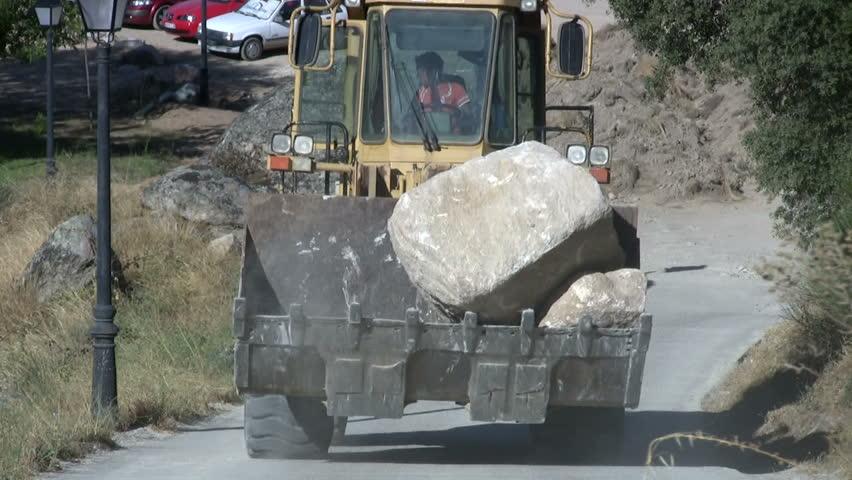 Excavator - HD stock footage clip