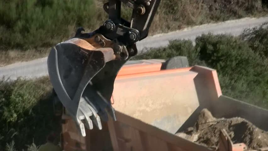 Excavator - HD stock video clip