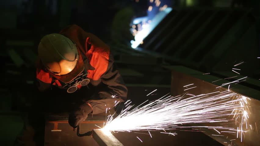 gas welding - HD stock video clip