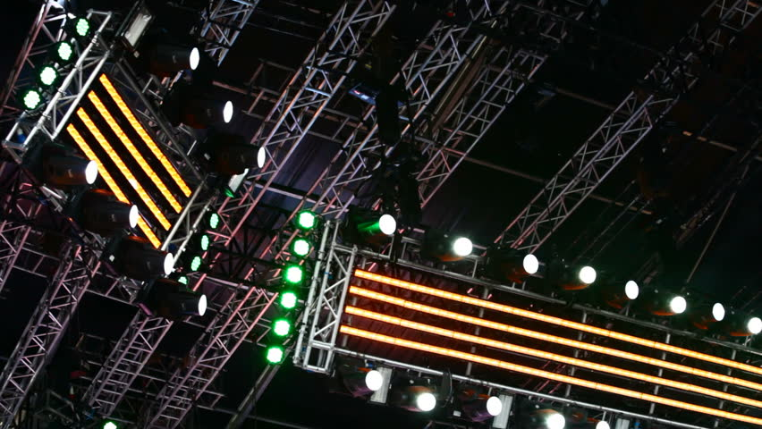 Lighting system on stage