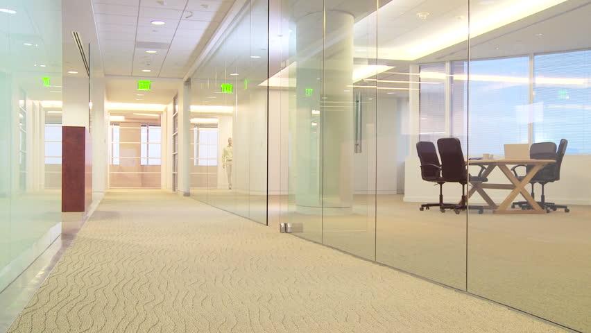 Businesspeople dancing down hallway - HD stock video clip
