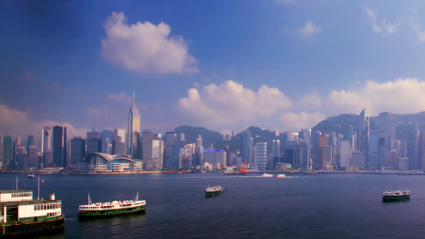 Time-lapse [camera pan] - Hong Kong Harbour | Shutterstock HD Video #2315309