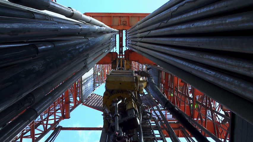 drilling rig  - HD stock footage clip