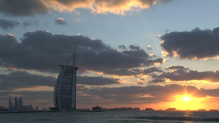 Dubai - Circa 2012: A bus tour through Dubai in 2012. View of the