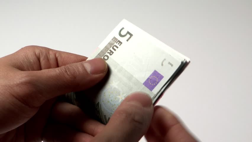 Man counting some Euros | Shutterstock HD Video #2402231