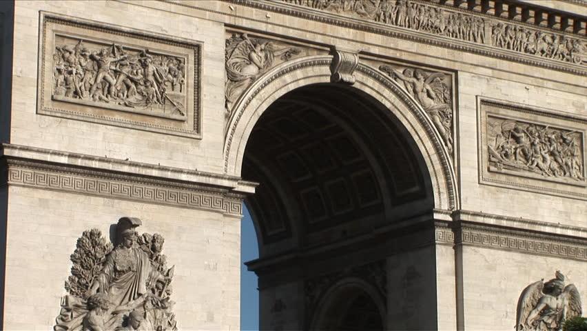 Arc of Triumph in Paris France very close | Shutterstock HD Video #2402375