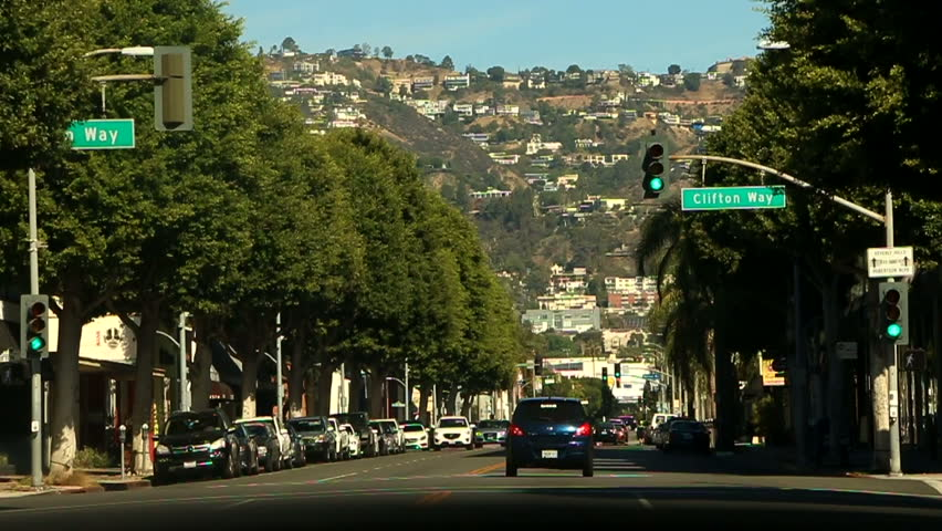 Driving inside the car around Los Angeles | Shutterstock HD Video #24232127