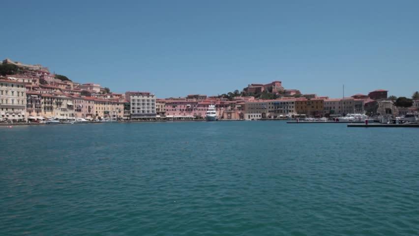 Marina of Portoferraio, Elba Island, Italy. - HD stock video clip