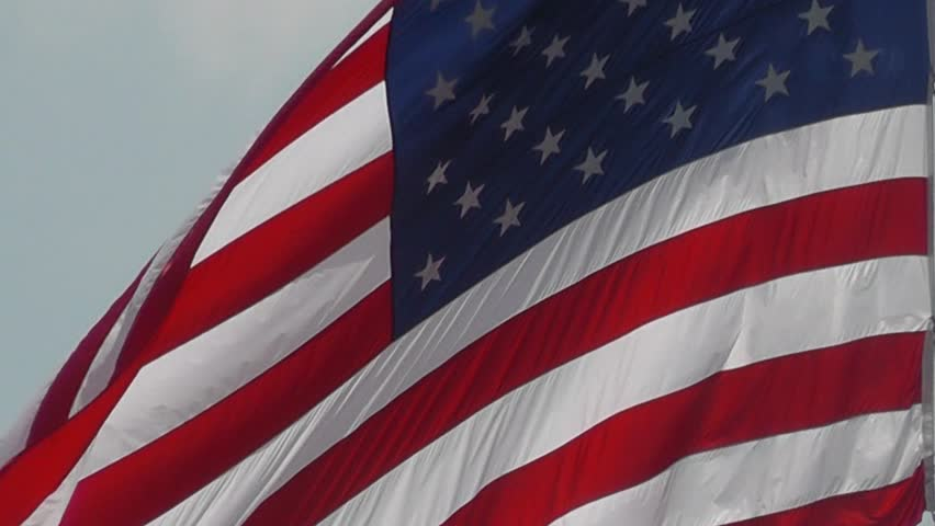 Close up of American Flag - HD stock video clip