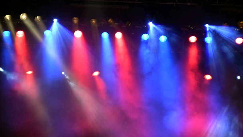 Colorful lights in a concert - HD stock video clip