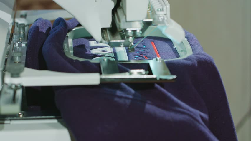 Female hands taking products made Embroidery machine | Shutterstock HD Video #24529892