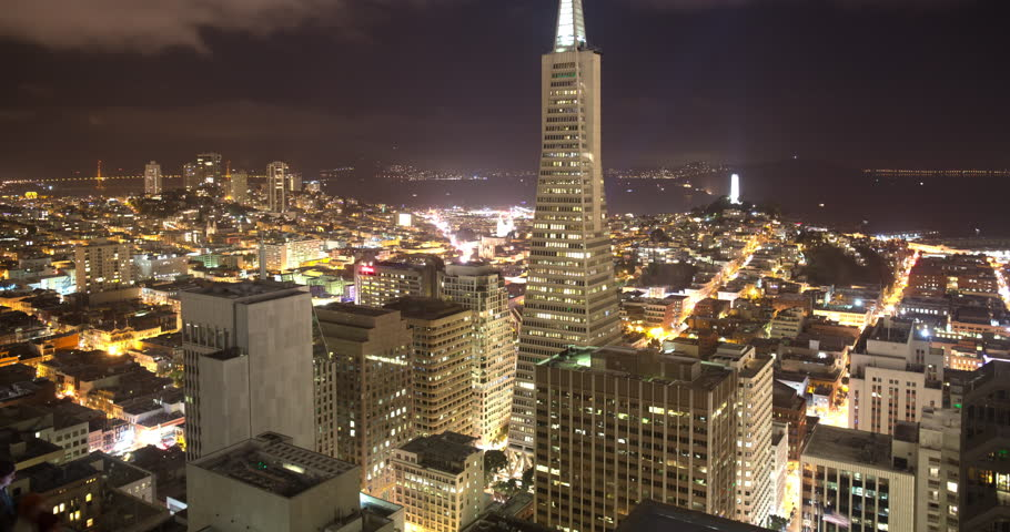 Gorgeous Sunrise Time Lapse of Downtown San Francisco in 4K | Shutterstock HD Video #24660266