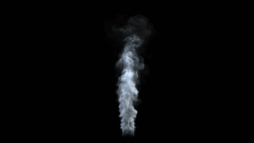 Smoke on a black background with alpha