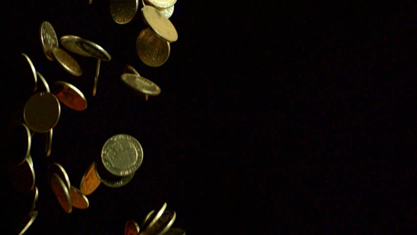 gold coins black background - photo #37
