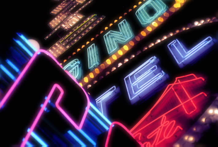 Flashing neon lights of a casino sign | Shutterstock HD Video #24689345
