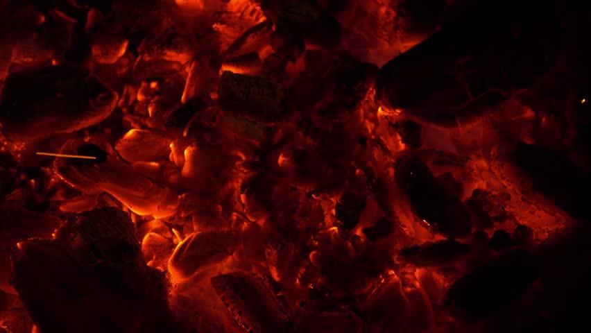 Hot coals. Fire. background. #24770129