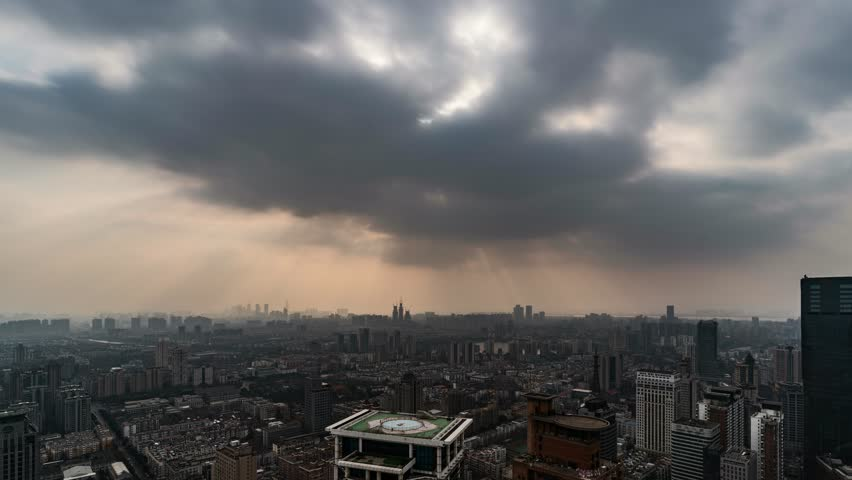 Fog and Haze in China, timelapse in Nanjing, China. | Shutterstock HD Video #24786770