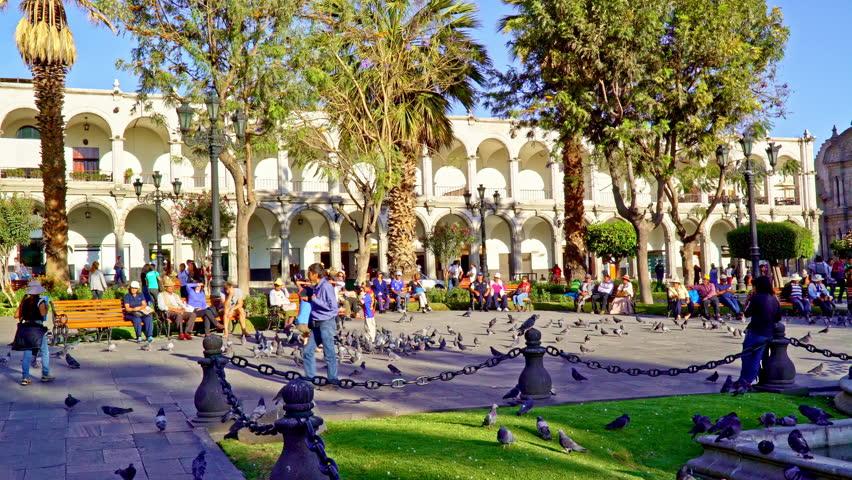 Plaza de Armas de Arequipa, Peru, Sept 22nd 2016