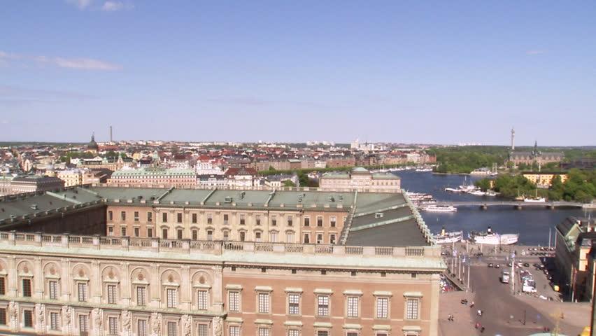 Stockholm Palace, Stockholm, Sweden. - HD stock video clip
