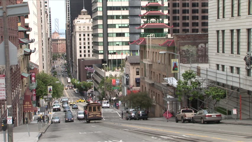 San Francisco, CA - CIRCA May, 2006: View Of A Busy Street ...