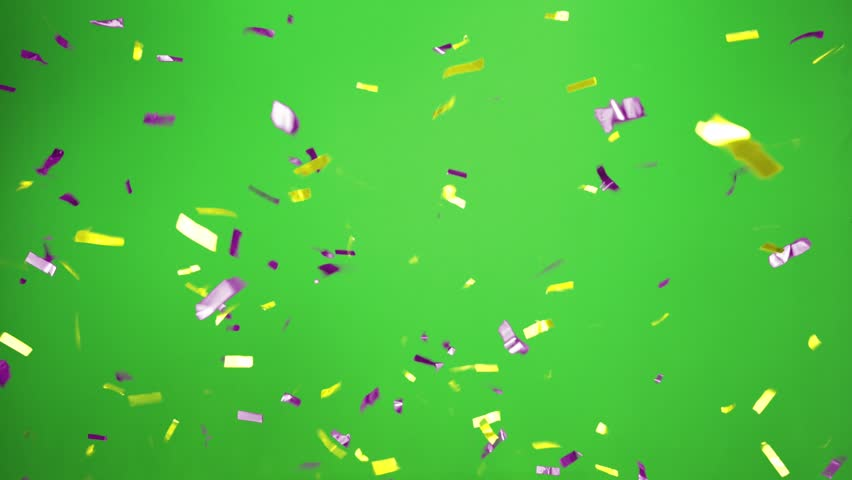 Real Confetti falling  soft and beautiful in the colors blue and pink with  Green screen for party and celebrations | Shutterstock HD Video #24916784