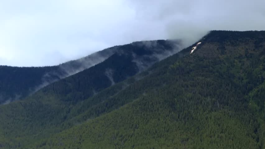 Clouds on Columbia Mountain time-lapse - HD stock footage clip