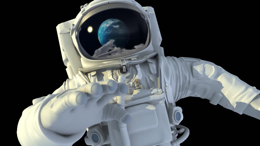 Astronaut in open space. 3d animation. | Shutterstock HD Video #2506865