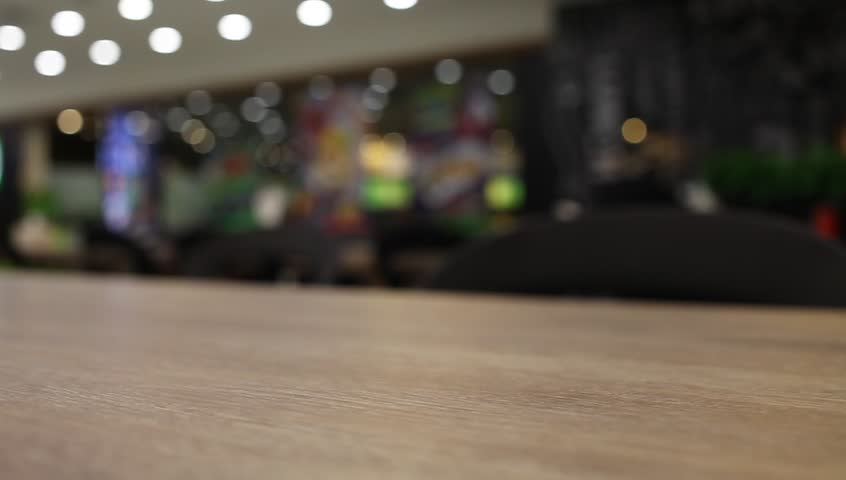 Table and chair at food court blurred background | Shutterstock HD Video #25073834