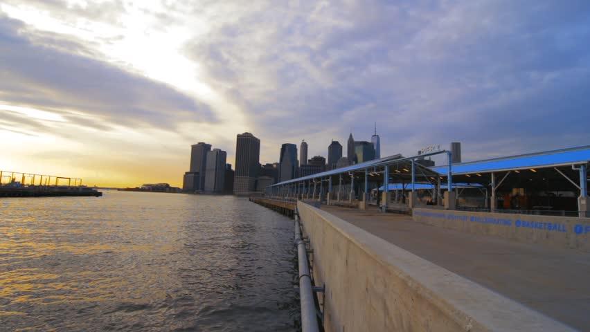 Pier 2 Pan Over Of New York City | Shutterstock HD Video #25187549