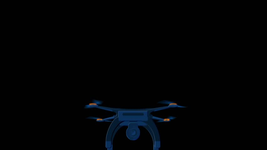 Flight of a flat drone flies towards the horizon Animation fo flat drone with alpha channel | Shutterstock HD Video #25190033