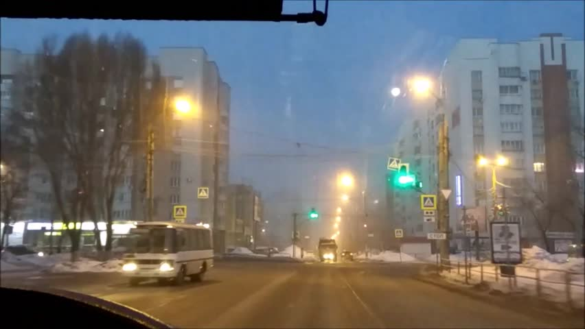 Time-lapse ride public transport in Russia | Shutterstock HD Video #25190960