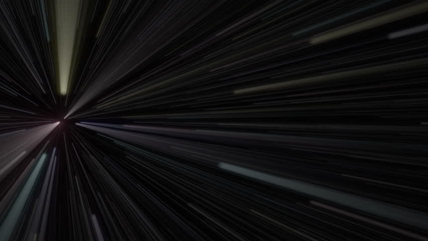 Space travel, super-speed, speed of light. 3D rendered, 4k UHD | Shutterstock HD Video #25191005