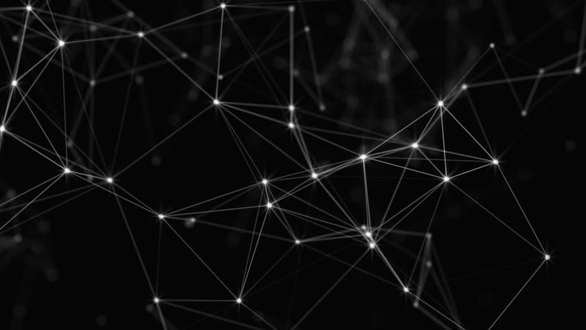 Plexus of abstract lines, triangles and dots. Loop animations. | Shutterstock HD Video #25208735