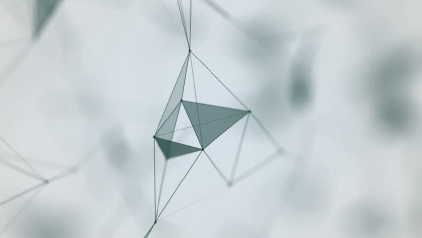 Plexus of abstract lines, triangles and dots. Loop animations. | Shutterstock HD Video #25208762