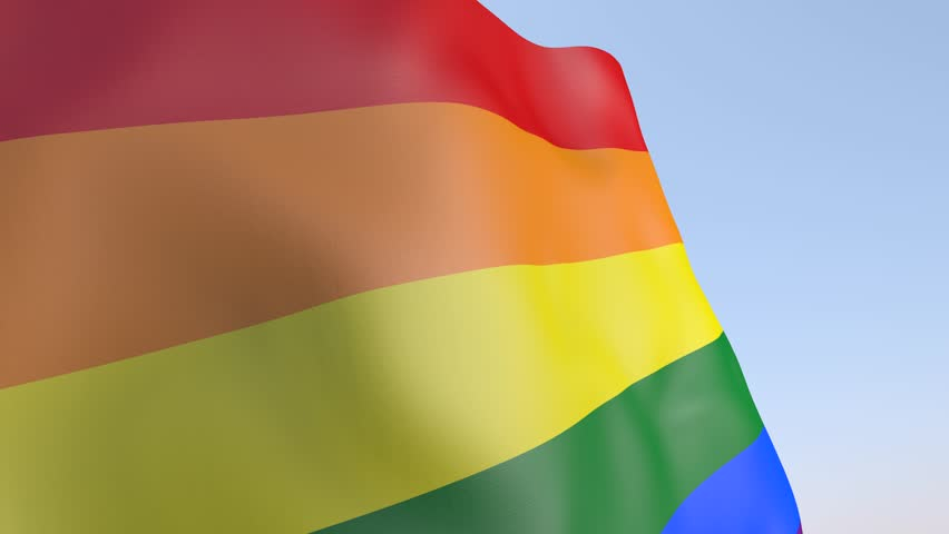 3D Animation - Gay Pride Flag | Shutterstock HD Video #25210652