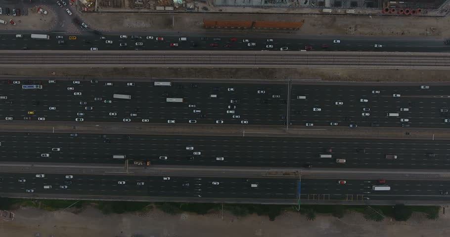 Aerial view of Sheikh Zayed Road  | Shutterstock HD Video #25226168