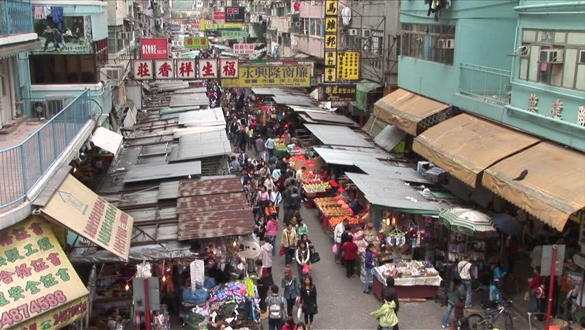 Hong Kong China Circa April 2007 Bird S Eye View Of A