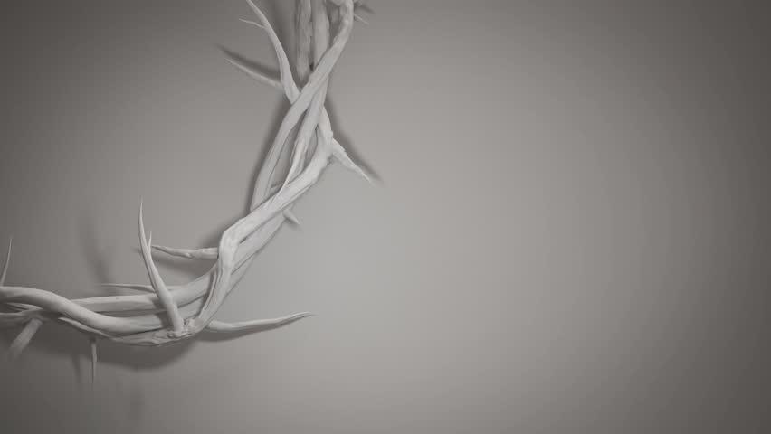 Crown of Thorns of Jesus Christ 3D Rendering Loop Animation Background 4K | Shutterstock HD Video #25230074