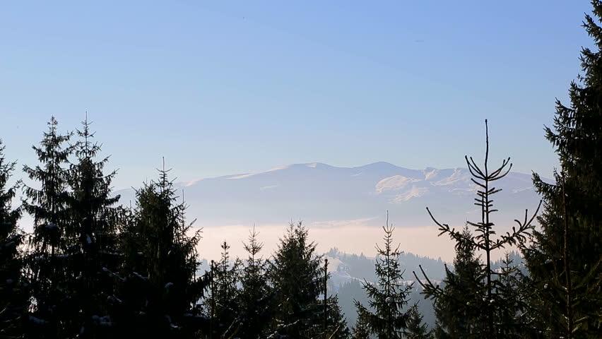 Winter landscape. majestic snow mountains. tourism resort nature. | Shutterstock HD Video #25251989