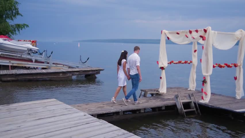 Couple in love at the pier   Shutterstock HD Video #25292507