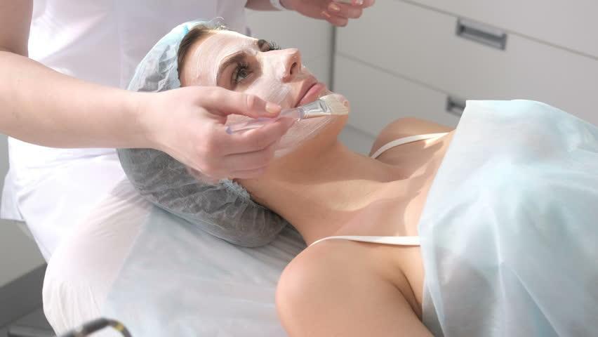Girls getting a facial