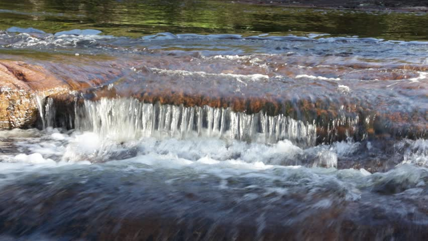 Small stream in Gran Sabana - Venezuela, Latin America - HD stock footage clip