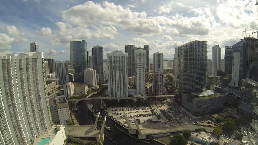 MIAMI, FLORIDA/USA - OCTOBER 17, 2016: Time lapse skyline cityscape buildings view Downtown Miami, Florida, USA  | Shutterstock HD Video #25402712