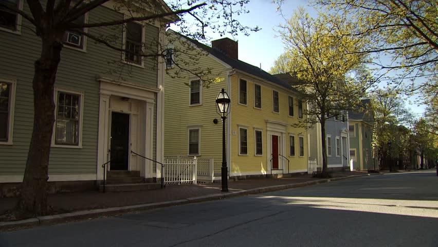 Benefit Street, Providence, Rhode Island - HD stock video clip